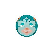 Blue Rabbit Monster Mini Button (10 pack)