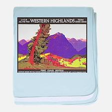 Scotland Travel Poster 1 baby blanket