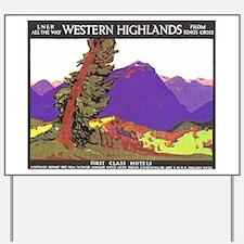 Scotland Travel Poster 1 Yard Sign