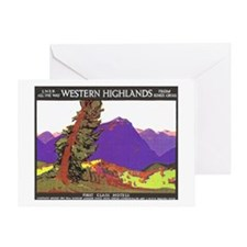 Scotland Travel Poster 1 Greeting Card