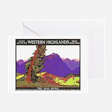 Scotland Travel Poster 1 Greeting Card