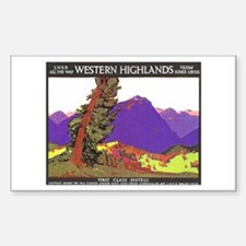 Scotland Travel Poster 1 Decal