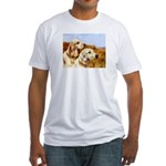 TWO ENGLISH SETTERS Fitted T-Shirt