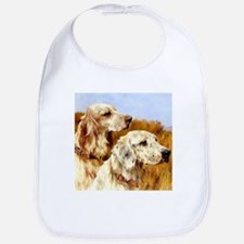 TWO ENGLISH SETTERS Bib