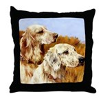 TWO ENGLISH SETTERS Throw Pillow