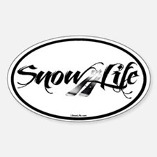 Black Snowlife with skis Decal