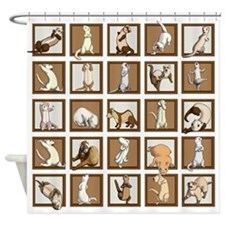 Ferret Squares Shower Curtain