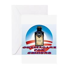 Obamacare for Seniors Greeting Card