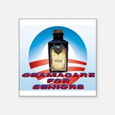 "Obamacare for Seniors Square Sticker 3"" x 3"""