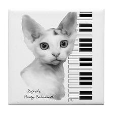 Hoagy Catmousel Tile Coaster
