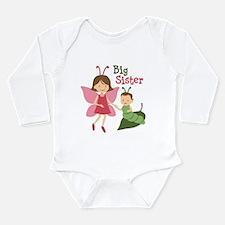 Big Sister - Butterfly Long Sleeve Infant Bodysuit