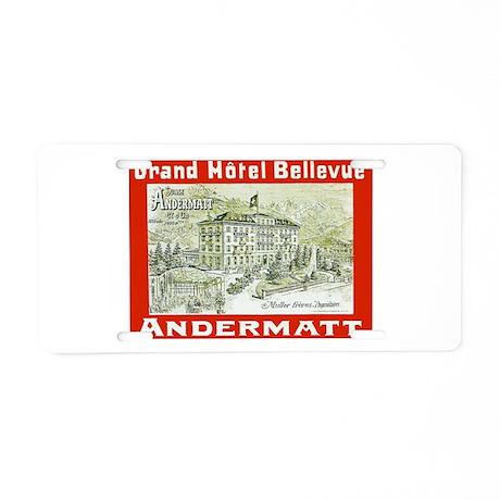 Switzerland Travel Poster 3 Aluminum License Plate