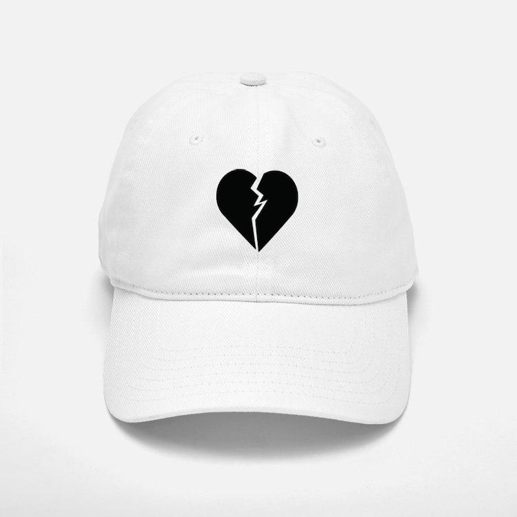 Broken Heart Baseball Baseball Cap