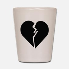 Broken Heart Shot Glass