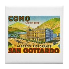 Italy Travel Poster 1 Tile Coaster