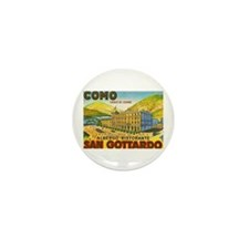 Italy Travel Poster 1 Mini Button (100 pack)