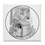 DOG & ROOSTER Tile Coaster