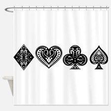 Card Symbols Shower Curtain