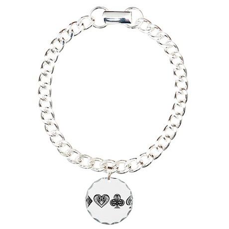 Card Symbols Charm Bracelet, One Charm