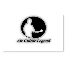 """Air Guitar Legend"" Rectangle Decal"