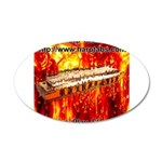 lava.png 20x12 Oval Wall Decal