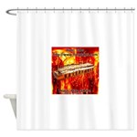 lava.png Shower Curtain