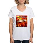 lava.png Women's V-Neck T-Shirt