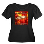 lava.png Women's Plus Size Scoop Neck Dark T-Shirt