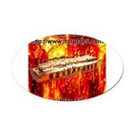 lava.png Oval Car Magnet