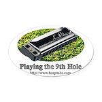 harmonica1.jpg Oval Car Magnet