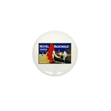 Italy Travel Poster 2 Mini Button (100 pack)