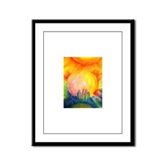 We Are Not Alone Framed Panel Print