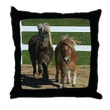 Cute Miniature Horses Throw Pillow