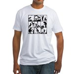 DOG LOVER Fitted T-Shirt