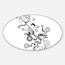 Circuit Sticker (Oval)