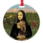 Airedale Round Ornament
