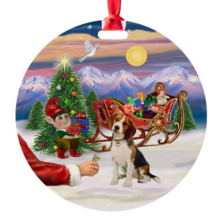Beagle Round Ornament