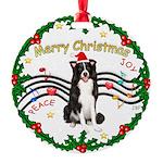 Border Collie Round Ornament