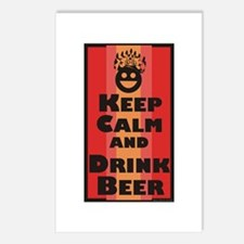Keep Calm and Drink Beer / Postcards (Package of 8