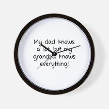 My dad knows a lot Wall Clock