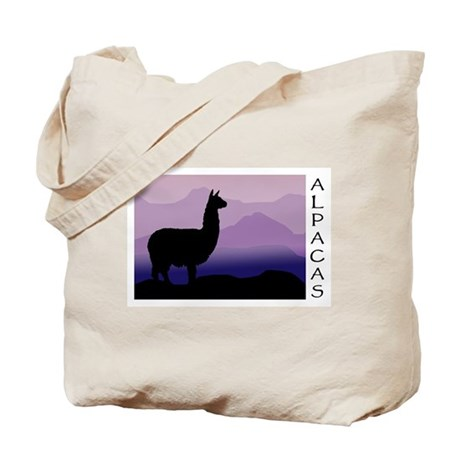 alpaca purple mountains Tote Bag