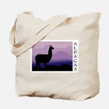 alpaca purple mountains Tote Bag