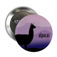 alpaca purple mountains Button
