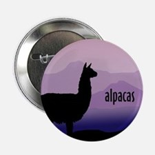 alpaca purple mountains Button