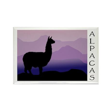 alpaca purple mountains Rectangle Magnet (100 pack