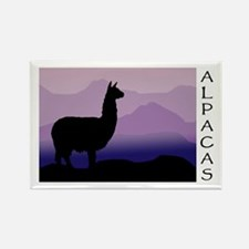 alpaca purple mountains Rectangle Magnet