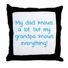 My dad knows a lot Throw Pillow