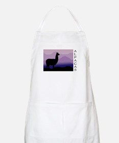 alpaca purple mountains BBQ Apron