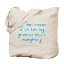 My dad knows a lot Tote Bag