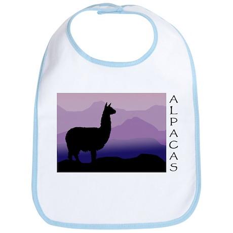 alpaca purple mountains Bib